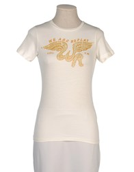 We Are Replay Topwear Short Sleeve T Shirts Women Beige
