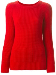 Forte Forte Crew Neck Sweater Red