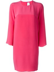 Gianluca Capannolo Trumpet Sleeve Oversized Dress Pink And Purple
