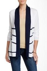 Fate Solid Open Front Cardigan Multi