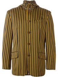 Jean Paul Gaultier Vintage Striped Blazer Yellow And Orange