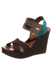 Eden Wedge Sandals Marron Brown