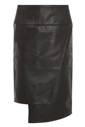 Tibi New York Wrap Leather Skirt