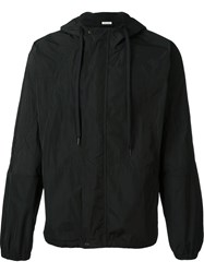 Tomas Maier Button Up Hooded Jacket Black