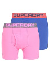 Superdry 2Pack Shorts Beach Pink Fleck Grey Fluoro Pink Kona Blue Fleck Navy Dark Gray