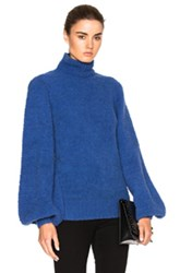Zimmermann Adorn Slouch Poloneck Sweater In Blue