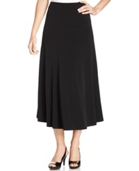Jm Collection Petite Seamed A Line Skirt Ebony Black