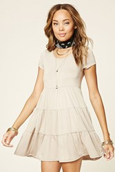 Forever 21 Tiered Mini T Shirt Dress