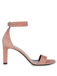 Saint Laurent Grace Suede Sandals Light Pink