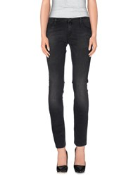 Gold Case Denim Denim Trousers Women Black