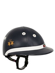 La Martina Pro Leather Polo Helmet