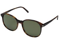 Saint Laurent Sl 95 Light Havana Solid Green Barberini Mineral Lens Fashion Sunglasses Brown