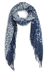Nordstrom Women's Animal Print Wool And Cashmere Wrap
