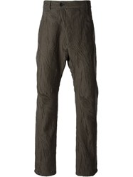 Damir Doma Distressed Patterned Trousers Grey