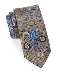 August Silk Paisley Tie Yellow
