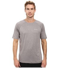 Marmot Accelerate Short Sleeve Steel Heather Men's Clothing Multi