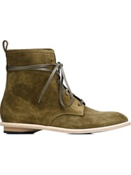 Valas Lace Up Boots Green