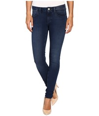 Mavi Jeans Adriana Midrise Super Skinny In Rinse Brushed Bi Straight Rinse Brushed Bi Straight Women's Blue