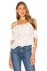 Lucy Paris Burnout Top White