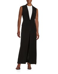 Dkny Collarless Vest Black