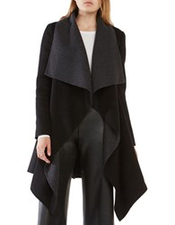 Bcbgmaxazria Mandi Long Sleeve Belted Coat Black Grey