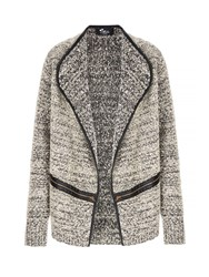 Mela Loves London Textured Zip Detail Jacket Grey