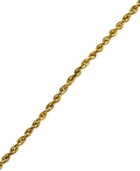 Macy's 14K Gold Anklet 10' Diamond Cut Seamless Rope
