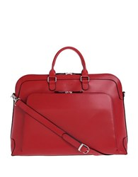 Lodis Audrey Brera Grain Leather Briefcase Red