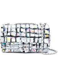 Chanel Vintage Mini 'Flap' Hand Painted Crossbody Bag Multicolour