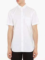 Comme Des Garcons White Short Sleeved Cotton Shirt