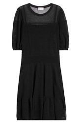 Red Valentino Knit Cotton Dress Black