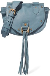 See By Chloe Collins Small Textured Leather Shoulder Bag Blue