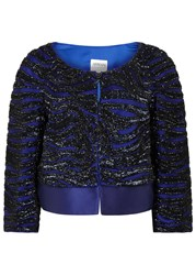 Armani Collezioni Beaded Tulle And Satin Jacket Black