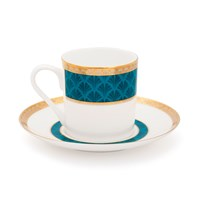 Mrs Moore's Vintage Store Harley Coffee Cup And Saucer Turquoise
