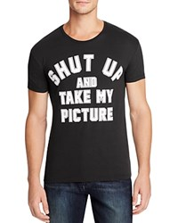 Happiness Shut Up Take My Picture Graphic Tee Black