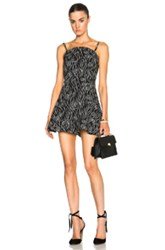 Opening Ceremony Laurel Jacquard Circle Romper In Black Abstract