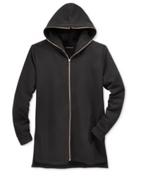 Jaywalker Men's Long Length Full Zip Hoodie Black