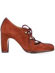 Chie Mihara 'Ferrian' Lace Up Pumps Brown