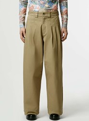 Topman Design Stone Ultra Wide Trousers Brown
