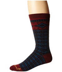 Pendleton Fair Isle Crew Maroon Crew Cut Socks Shoes Red