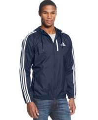 Adidas Full Zip Essential Woven Jacket Navy White