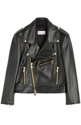 Red Valentino Cropped Leather Biker Jacket