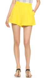 Apiece Apart Taiyana Elastic Back Shorts Sun Yellow