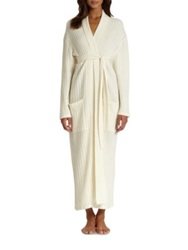 Saks Fifth Avenue Long Cable Cashmere Robe Snow