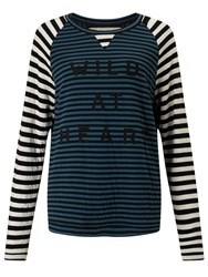 John Lewis Collection Weekend By Wild At Heart Top Black Green White