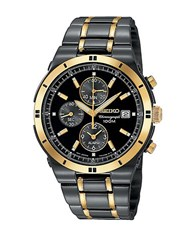Seiko Mens Two Tone Chronograph Watch