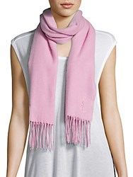 Yves Saint Laurent Wool And Cashmere Scarf Pink