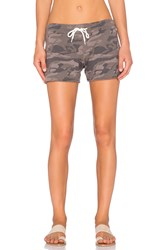 Monrow Camo Sweatshort Brown