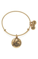 Women's Alex And Ani 'Love' Expandable Wire Bangle