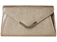 Jessica Mcclintock Lily Small Glittered Envelope Clutch Gold Clutch Handbags